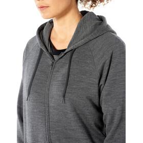 Icebreaker Helliers T-shirt manches longues à capuche avec demi-zip Femme, gritstone heather